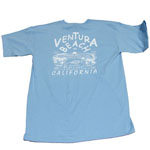 Blue Seaward Surf and Sport Ventura Beach t-shirt for sale in store